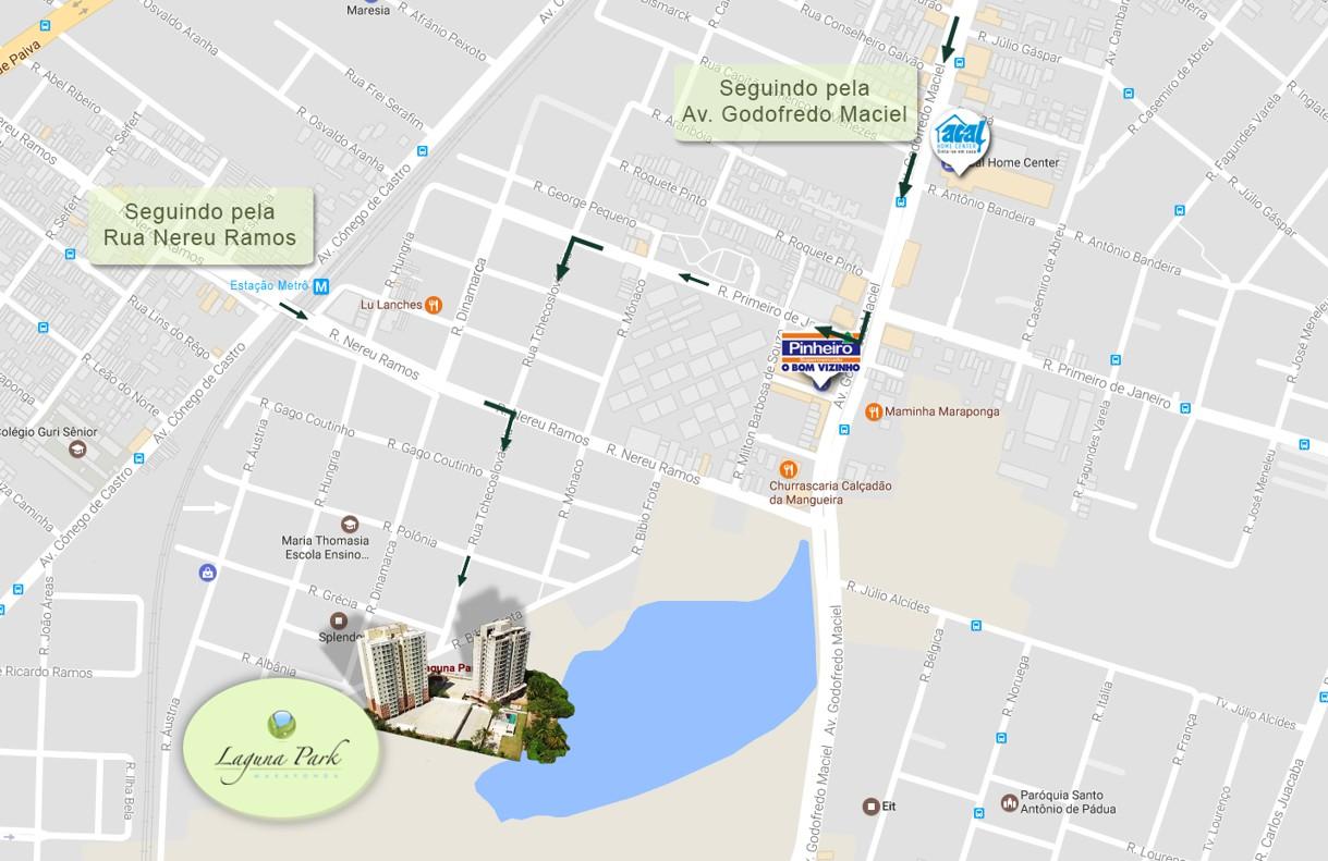Mapa do Laguna Park